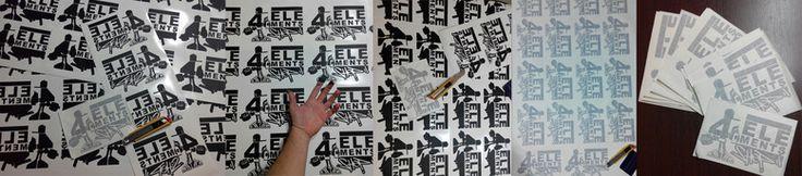 Pedido de vinilo decorativo con el logotipo de la empresa 4 Elements (Hip Hop Shop) pegatinas promocionales para los clientes.  4 Elements (Hip Hop Shop) - Graffiti, ropa urbana, patinaje y bicicletas C/ Damasco, nº 8, 14004 Córdoba (España) Teléfono: 857 80 66 09 Facebook: https://www.facebook.com/pages/4-Elements-Hip-Hop-Shop  #retovinilo #vinilodecorativo #vinilos  #decorativos #personalizados #trabajos #rotulacion #escaparate