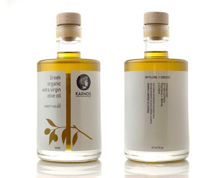 KARNOS organic olive oil on Packaging Design Served