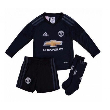 Manchester United Keeper David de Gea 1 Hjemme Draktsett Fotball Barn 17-18 Langermet #Billige #Fotballdrakter