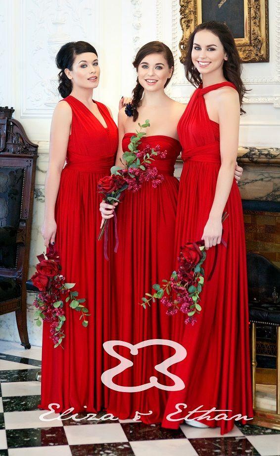 Robe de soirée et de demoiselle d'honneur rouge - Caralys Nice - Alpes Maritimes (06)