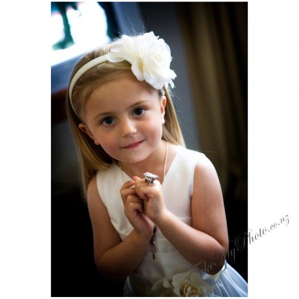 My beautiful niece the flower girl