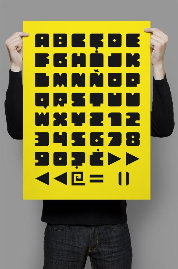Bloquer Modular typeface by Pedro Baños, via Behance http://www.dafont.com/blocker-modular.font