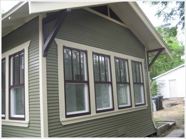 COLOR BLOCKING USING WINDOW SHUTTERS A REALTOR MADE THEMSELVES. PAINT: BM -  Vintage Wine