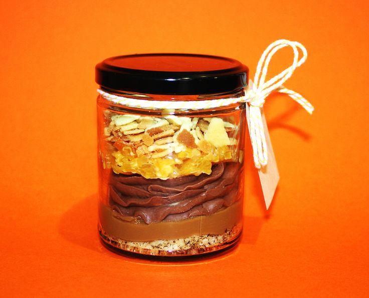 Paddington DVD release: Paddington's Pud - French toast base, salted butter caramel, chocolate soft serve, orange marmalade, orange buttery short crust. #MessinaDessertBar #OrangeMarmalade #PaddingtonBear