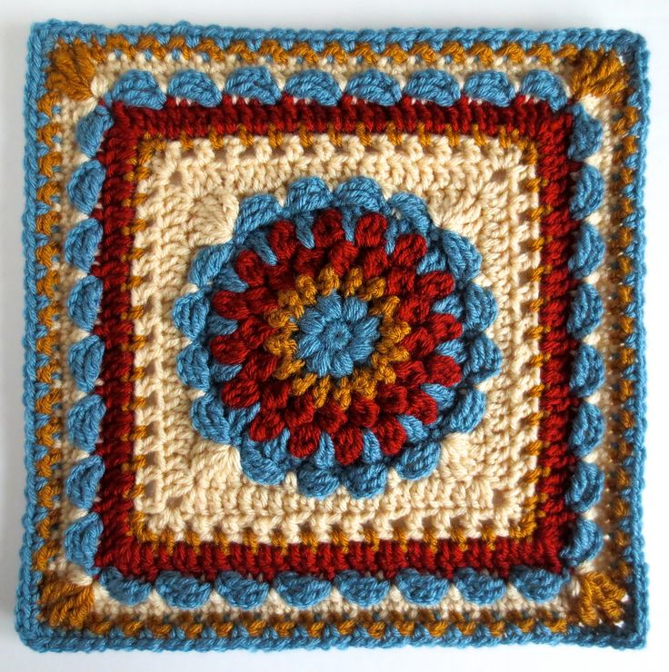 Ravelry: Floral Dimension Afghan Square pattern by Laurie Dale