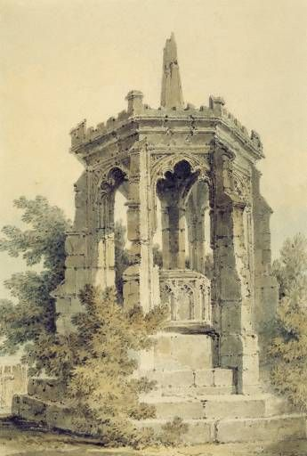 Joseph Mallord William Turner - Blackfriars Cross, Hereford (A Monument), c.1794