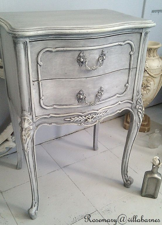 grey wash, french provincial side table More