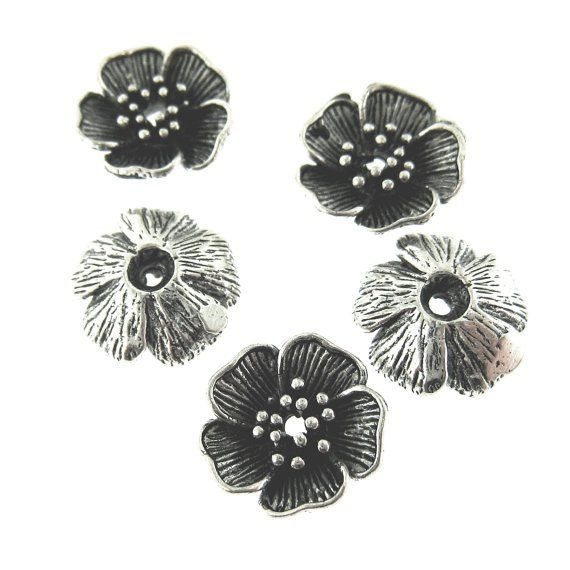 5 pcs Antique Oxidized Silver Plated on by FancyGemsandFindings, $4.50
