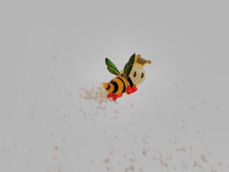 Vintage France/French Bee bug pin badge