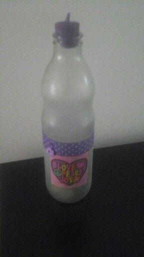 Botella alcancia