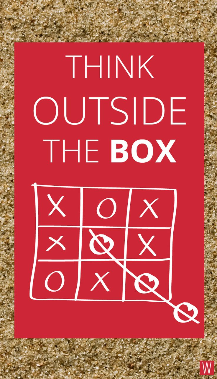 Think outside the BOX ! #quote #insipation #creativity #innovation