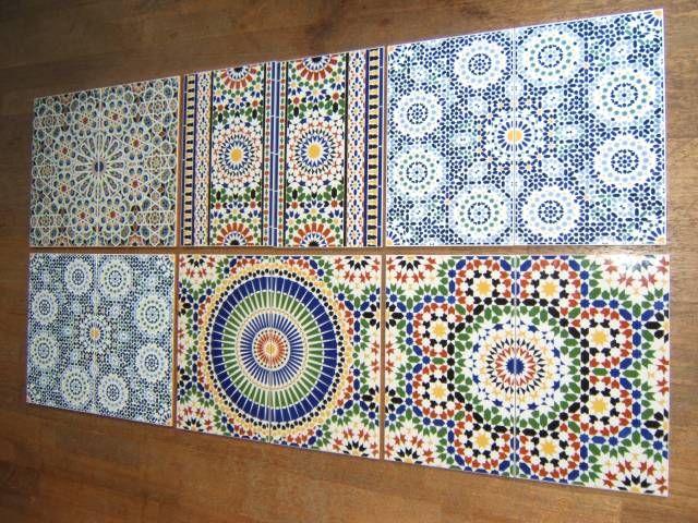Zelliges marokkaanse tegels bij Sahara shop