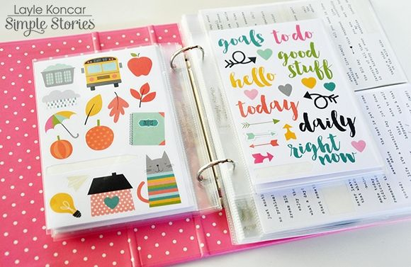 Sn@p! Designer Binder w/pocket pages - shown as sticker storage binder