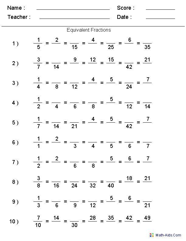 26 Equivalent Fractions Worksheet Answer Key Aneta A Agosz Aagosz On Pinterest In 2020 Math Fractions Worksheets Fractions Worksheets Math Fractions