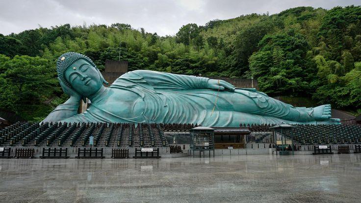 Lying Around Reclining Buddha Nanzoin Temple Fukuoka
