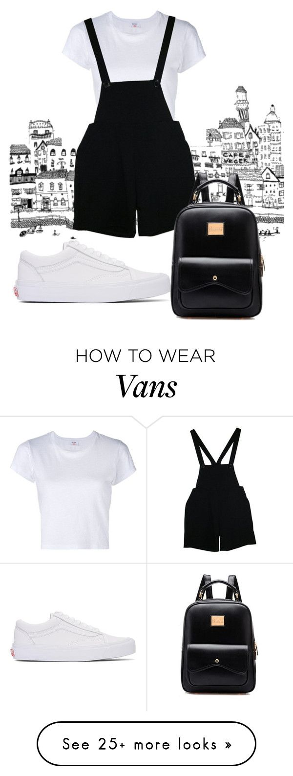 """""""Wampus"""" by marigusmao on Polyvore featuring RE/DONE, American Apparel and Vans"""