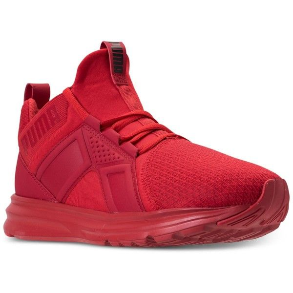 Puma Men's Enzo Wide Casual Sneakers from Finish Line ($70) ❤ liked on Polyvore featuring men's fashion, men's shoes, men's sneakers, high risk red, mens wide shoes, mens shoes, mens red shoes, puma mens shoes and mens wide width shoes