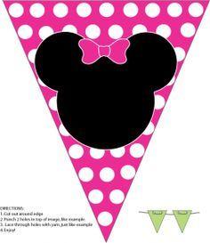 Minnie Mouse - Banderín para cumpleaños.