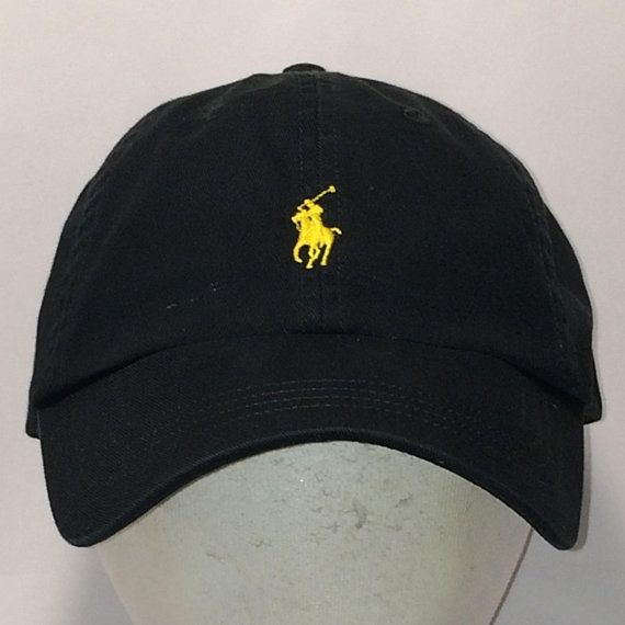 a0536b23 Vintage Polo Ralph Lauren Hat Horse Caps Black Yellow Pony Strapback  Baseball Cap Cool Sports Hats For Men Low Profile Dad Hat T111 MA8115