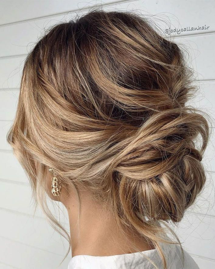 44 Romantic Messy Updo Hairstyles For Medium Length 44 Romantic Messy Updo Hairstyles For Medium Length Wal Hair Styles Medium Hair Styles Messy Hairstyles