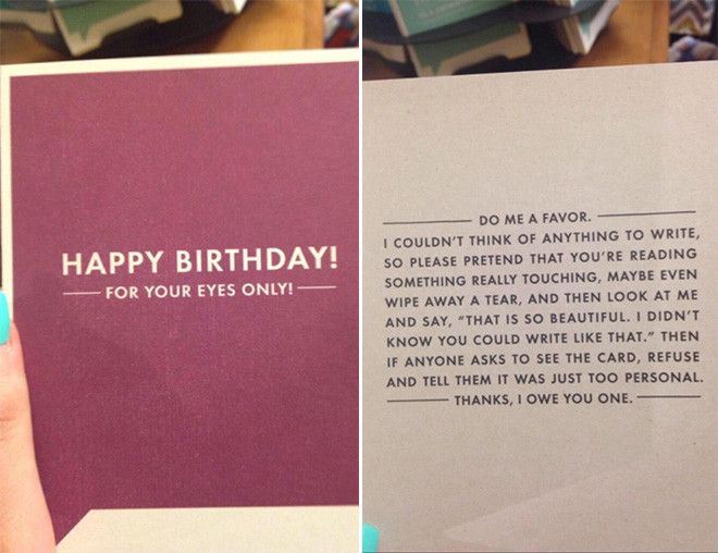 Funny Things To Write In A Birthday Card Awesome Funny Birthday