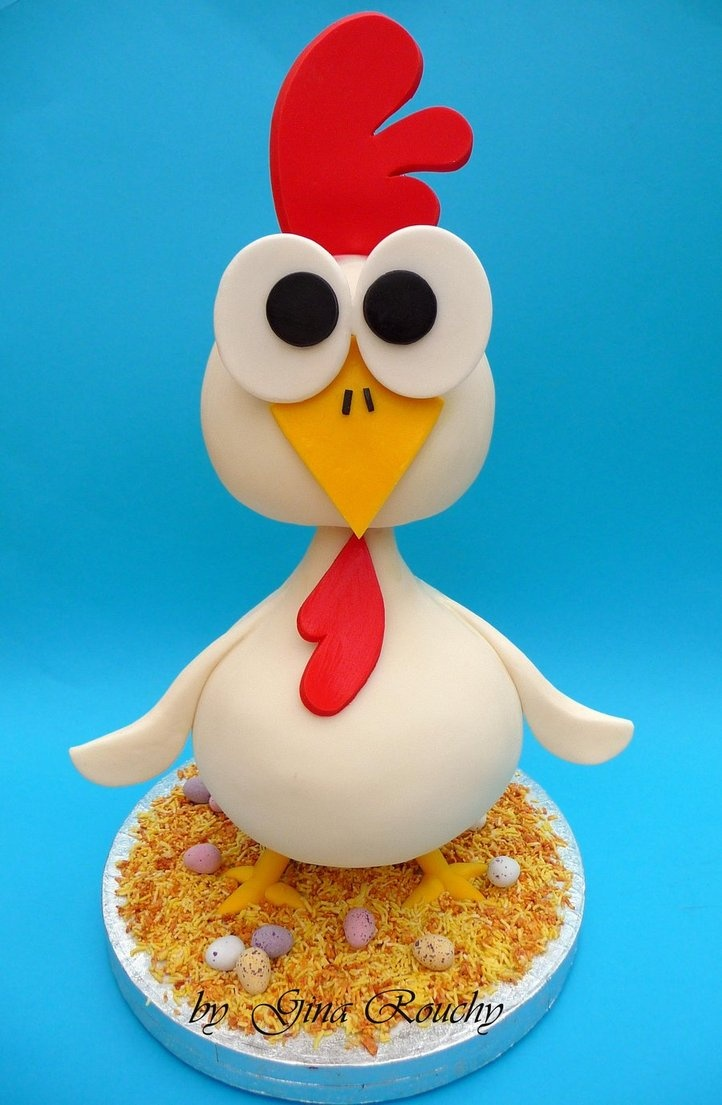 How To Make Chicken Cake Toppers