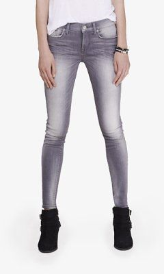 gray mid rise jean legging from EXPRESS