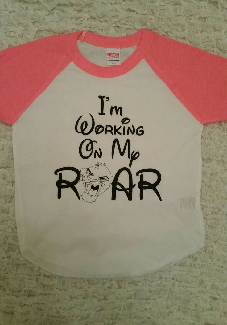 I'm Working On My Roar - Disney Shirt - Lion King Shirt - Simba Shirt - Disney World Shirt - Disney Land Shirt - Girls Shirt - Boys Shirt by MadieAndQuinn on Etsy https://www.etsy.com/listing/261998572/im-working-on-my-roar-disney-shirt-lion