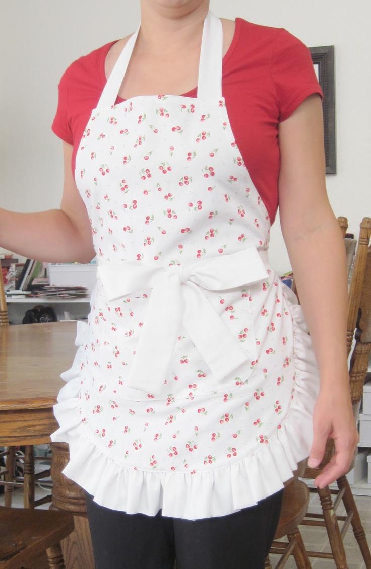 Ogilvies designs christmas aprons gloves amp tea towels - Cherry Jubilee Apron