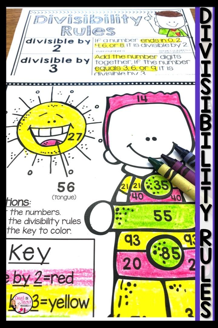 Divisibility Rules Division Worksheets 4th Grade Math Math Center Activities Divisibility Rules Worksheet 4th Grade Math