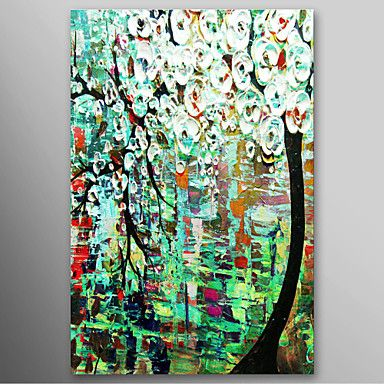 Oil painting tree