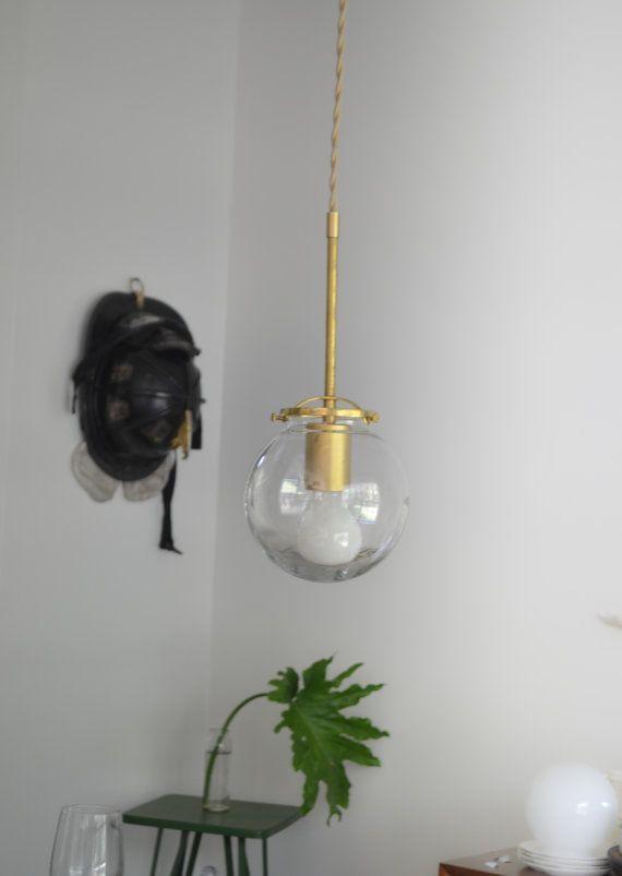modern lighting pendant. globe solid brass hanging glass modern light bathroom bedroom bedside lamp hallway lighting pendant
