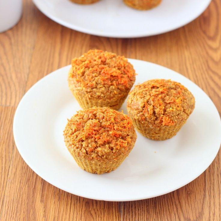Carrot Breakfast Muffins (Sugar Free)