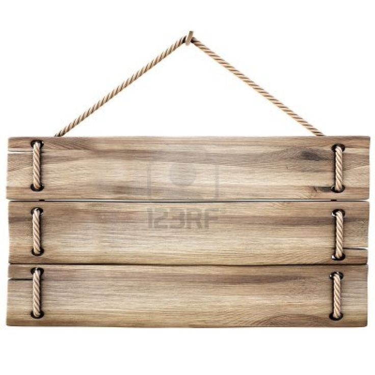 hanging wooden signs. Ideal for signs made from upcycled pallet boards!