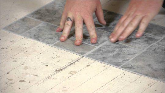 Permalink to Lovely Laying Vinyl Floor Tiles In Bathroom