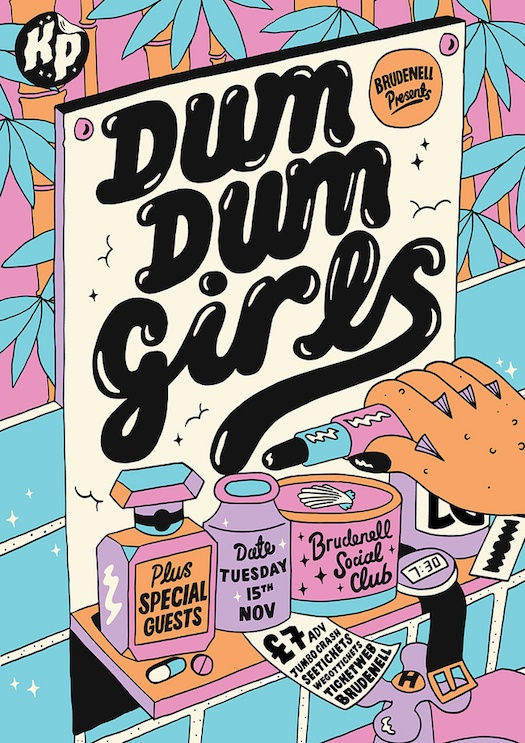 Kate Prior, Dum Dum Girls #poster #britain