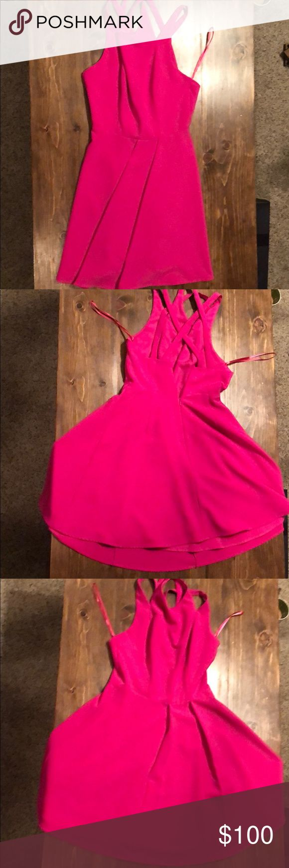 Hot pink gorgeous party dress! Erioisly the cutest dres! Fits my waist like a dr…