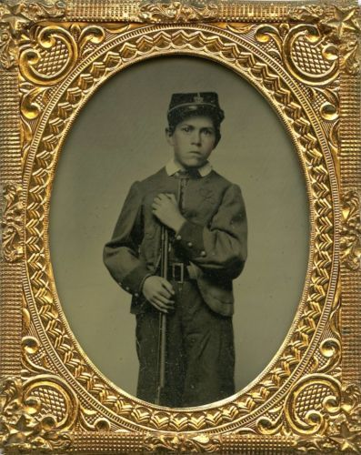 Excellent Ambrotype of a Young Boy in Civil War Zouave ...