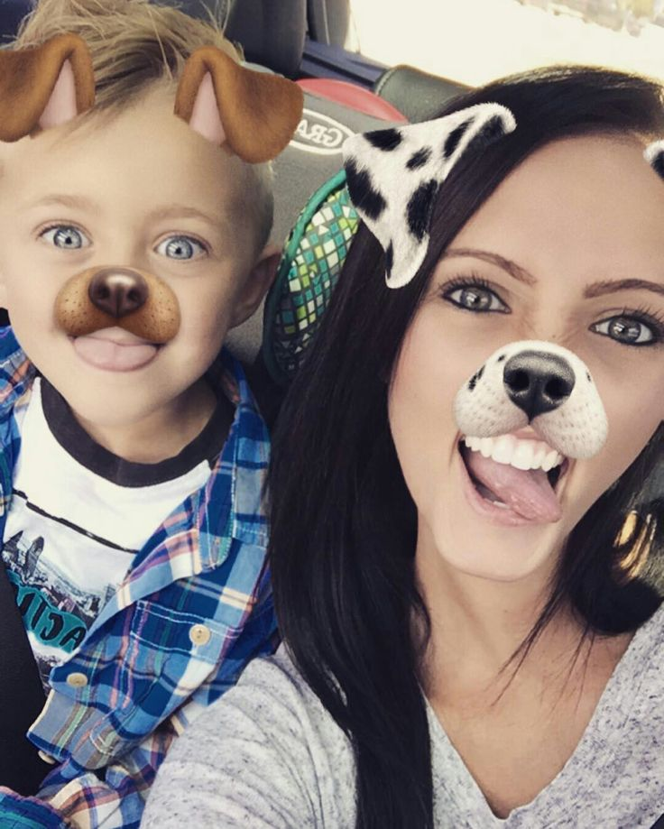 Kane and brit with dog snapchat  filter. Smile more!