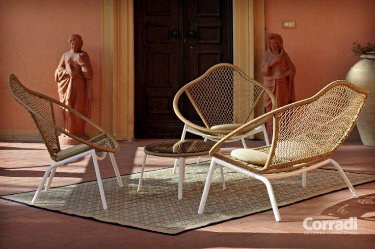 Linea Too deep Corradi - salottino #arredo #giardino