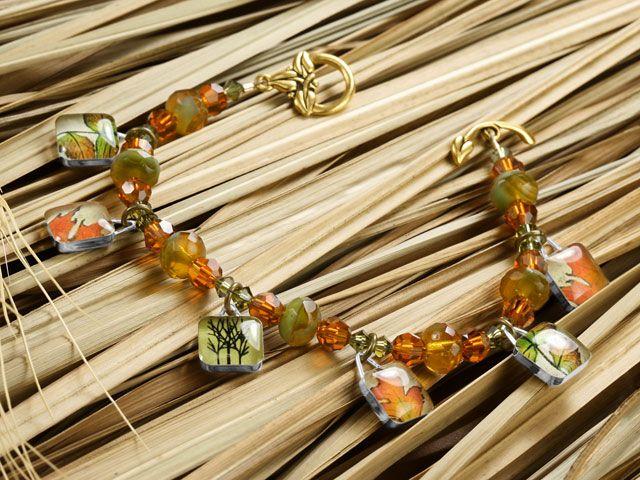 Autumn's Palette Bracelet  http://www.artbeads.com/autumns-palette-bracelet.html