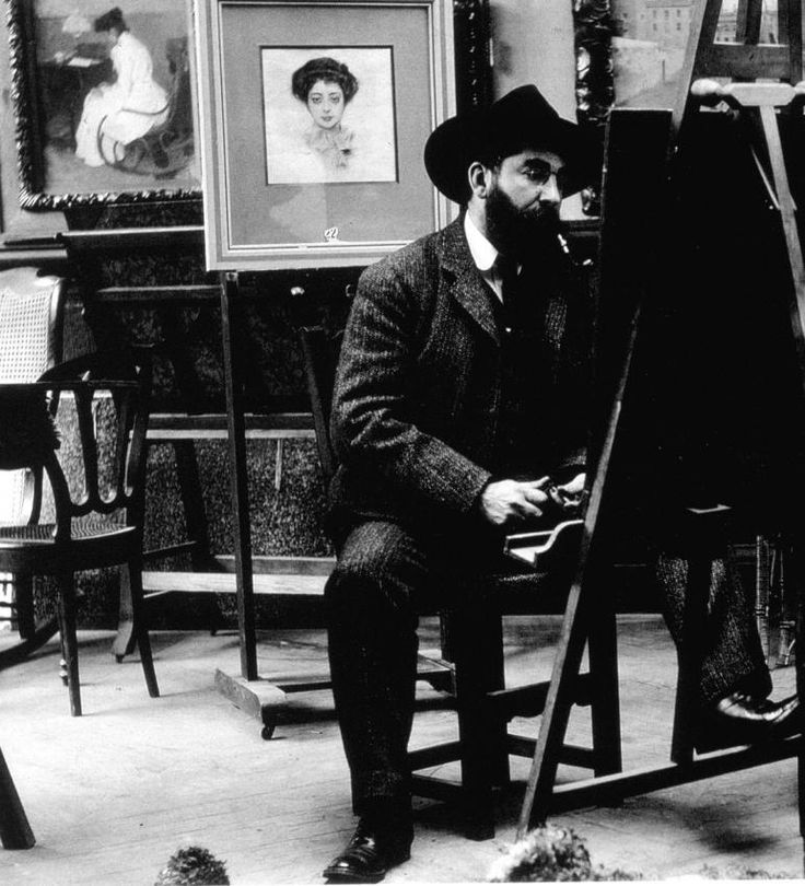 Ramon Casas (January 1866 – February 1932) was a Catalan Spanish artist. He was a portraitist, sketching and painting the political, intellectual, and economic elite of Barcelona, Madrid, and Paris.