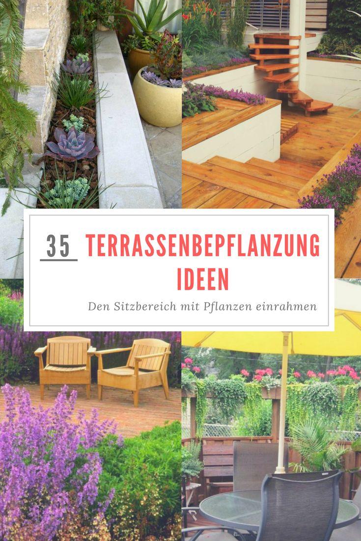 Die 25+ Besten Ideen Zu Kübelpflanzen Auf Pinterest | Blumen Im ... Terrassenbepflanzung Ideen Beete Gestaltung