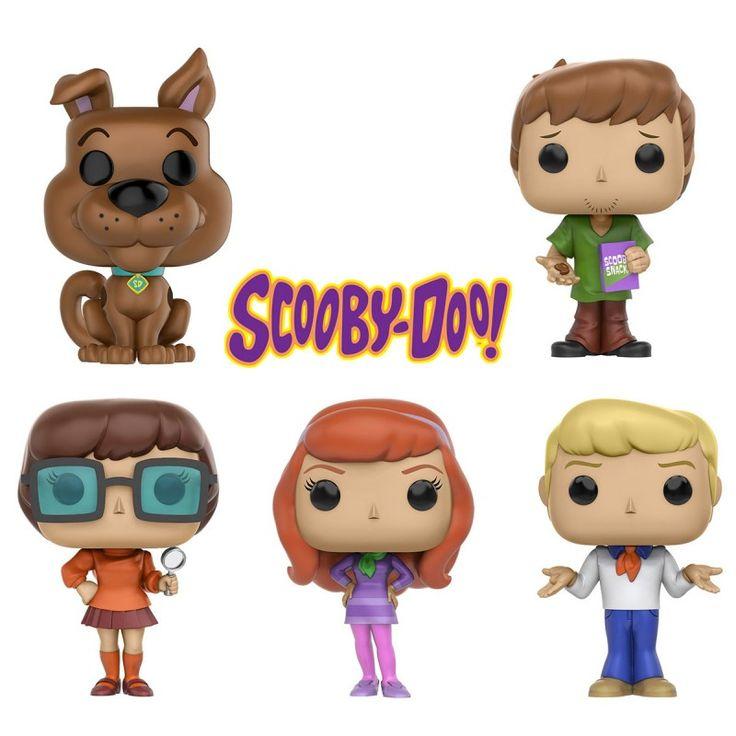 Collectionnez les 5 figurines Funko POP! du dessin animé Scooby Doo ! Avec Scooby, mais aussi Sammy, Véra, Daphné et Fred ! Au choix.