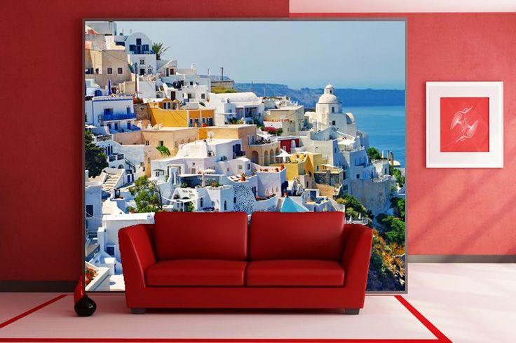 Fototapeta F015 - Greckie miasteczko