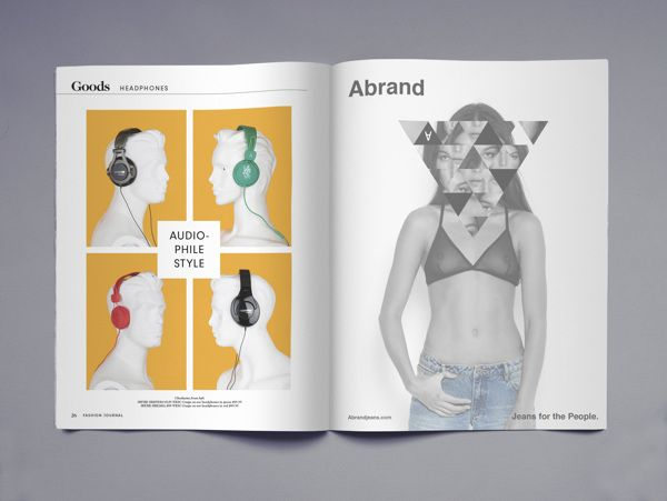 Fashion Journal Redesign by Ross Paxman, via Behance