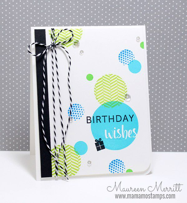 Mama Mo Stamps: Birthday Wishes