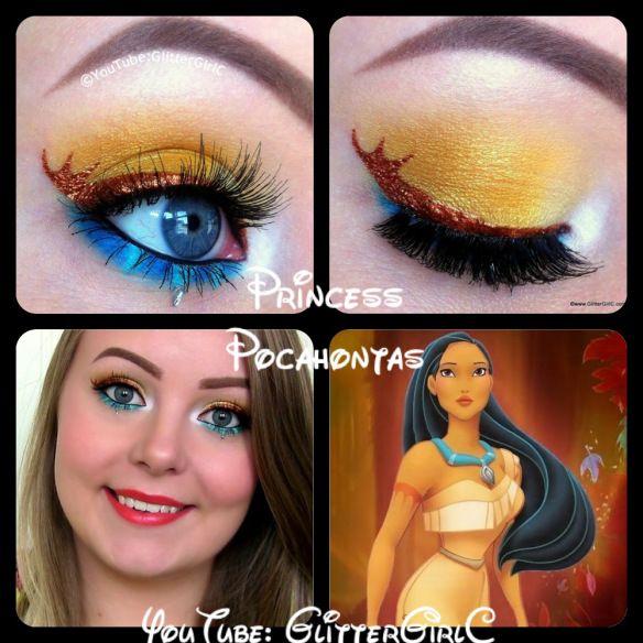 Pocahontas makeup. YouTube channel: https://www.youtube.com/user/GlitterGirlC