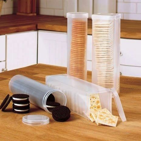 Cracker & Cookie Containers   50 Useful Kitchen Gadgets You Didn't Know Existed ... Stale Saltines are the worst!