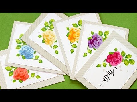 Mass Producing Stamped Cards - MISTI Stamp Tool - YouTube